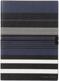 Hugo Boss Storyline A5 Notepad - Blue Stripes