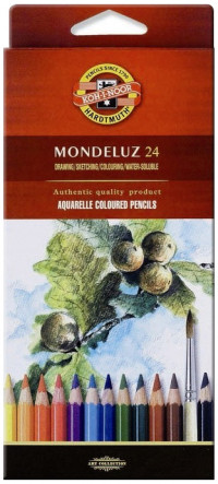 Koh-I-Noor 3718 Aquarell Coloured Pencils - Assorted Fruit Colours (Pack of 24)