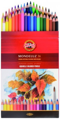 Koh-I-Noor 3719 Aquarell Coloured Pencils - Assorted Fruit Colours (Pack of 36)