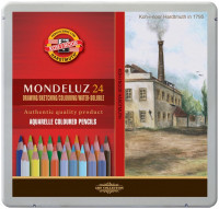 Koh-I-Noor 3724 Aquarell Coloured Pencils - Assorted Landscape Colours (Tin of 24)