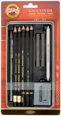 Koh-I-Noor 8893 Sketching Set - Assorted Gift Tin (Blister Pack)