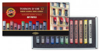 Koh-I-Noor 8512 Artist's Round Dry Chalks - Assorted Colours (Pack of 12)