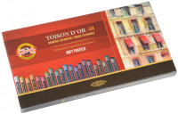 Koh-I-Noor 8516 Artist's Round Dry Chalks - Assorted Colours (Pack of 48)