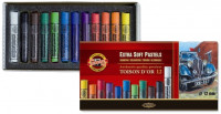Koh-I-Noor 8552 Artist's Extra Soft Round Dry Chalks - Assorted Colours (Pack of 12)