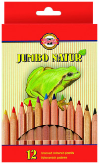 Koh-I-Noor 2172 Jumbo Coloured Pencils - Assorted Colours (Pack of 12)