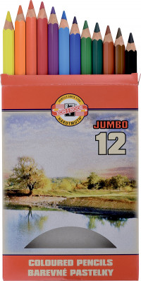 Koh-I-Noor 3372 Jumbo Coloured Pencils - Assorted Colours (Pack of 12)