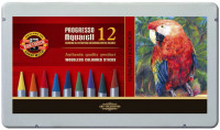 Koh-I-Noor 8782 Woodless Aquarell Coloured Pencils - Assorted Colours (Tin of 12)