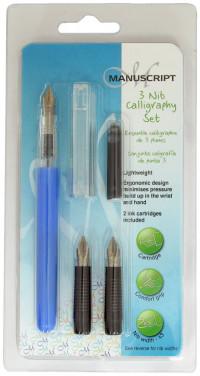 Manuscript Creative Calligraphy Pen Set - 3 Nibs