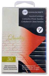 Manuscript Ink Cartridges - Assorted Colours (Pack of 30)