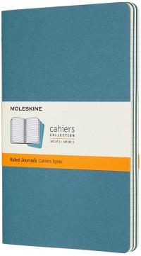 Moleskine Cahier Large Journal - Ruled - Set of 3 - Assorted