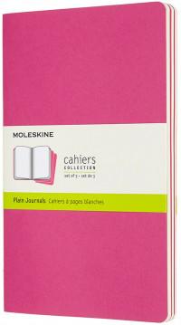 Moleskine Cahier Large Journal - Plain - Set of 3 - Assorted