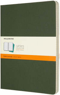 Moleskine Cahier Extra Large Journal - Ruled - Set of 3 - Assorted