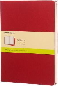Moleskine Cahier Extra Large Journal - Plain - Set of 3  - Assorted