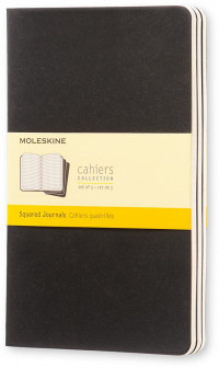 Moleskine Cahier Large Journal - Squared - Set of 3 - Assorted