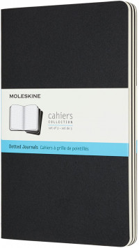 Moleskine Cahier Large Journal - Dotted - Set of 3 - Assorted