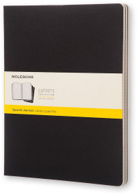 Moleskine Cahier Extra Extra Large Journal - Squared - Set of 3 - Assorted