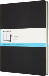 Moleskine Cahier Extra Extra Large Journal - Dotted - Set of 3 - Assorted