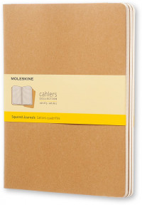 Moleskine Cahier Extra Large Journal - Squared - Set of 3 - Assorted