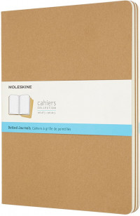 Moleskine Cahier Extra Large Journal - Dotted - Set of 3 - Assorted