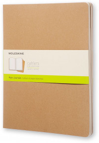 Moleskine Cahier Extra Extra Large Journal - Plain - Set of 3 - Assorted