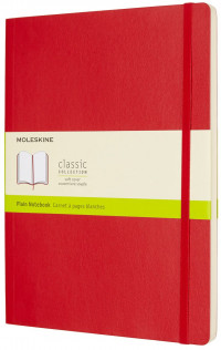Moleskine Classic Soft Cover Extra Large Notebook - Plain - Assorted