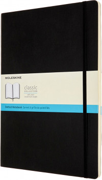 Moleskine Classic Soft Cover A4 Notebook - Dotted - Black
