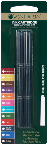 Monteverde Ink Cartridges - Standard International (Blister of 6)