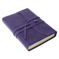 Papuro Amalfi Leather Journal - Aubergine - Small