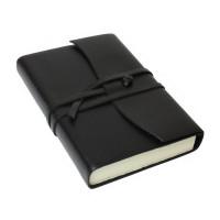 Papuro Amalfi Leather Journal - Black - Small