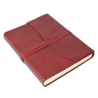 Papuro Amalfi Leather Journal - Red - Medium