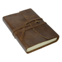 Papuro Amalfi Leather Journal - Chocolate - Small