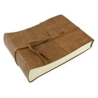 Papuro Amalfi Leather Photo Album - Tan - Small