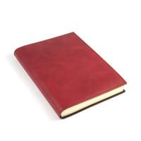 Papuro Capri Leather Journal - Red - Medium