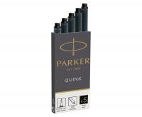 Parker Quink Ink Cartridges - Pack of 5 - Permanent
