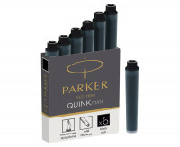 Parker Quink Mini Ink Cartridges - Box of 6