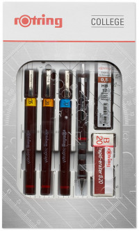 Rotring Isograph College Set - 0.20mm/0.35mm/0.70mm
