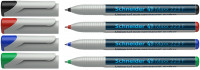 Schneider Maxx 223 Non-Permanent Markers - Fine - Assorted Colours (Pack of 4)