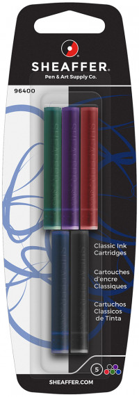 Sheaffer Ink Cartridge - Assorted Colours (Pack of 5)