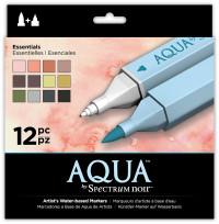Spectrum Noir Aqua Watercolour Markers - Essentials (Pack of 12)