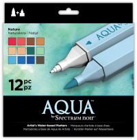 Spectrum Noir Aqua Watercolour Markers - Nature (Pack of 12)