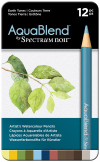 Spectrum Noir AquaBlend Watercolour Pencils - Earth Tones (Tin of 12)