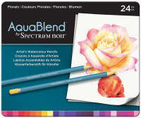 Spectrum Noir AquaBlend Watercolour Pencils - Florals (Tin of 24)