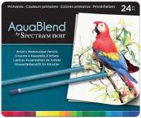 Spectrum Noir AquaBlend Watercolour Pencils - Primaries (Tin of 24)