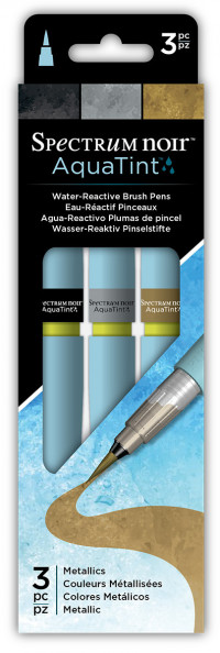 Spectrum Noir AquaTint Watercolour Markers - Metallics (Pack of 3)