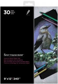Spectrum Noir Premium Black Paper Pad - 9 x 12