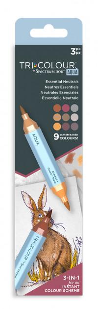 Spectrum Noir TriColour Aqua Markers - Essential Neutrals (Pack Of 3)