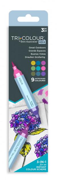 Spectrum Noir TriColour Aqua Markers - Great Outdoors (Pack Of 3)