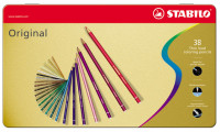 Stabilo Original Colouring Pencils - Assorted Colours (Tin of 38)