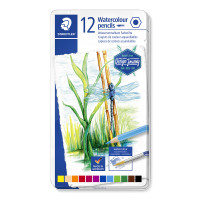 Staedtler Design Journey Watercolour Pencils - Assorted Colours (Tin of 12)