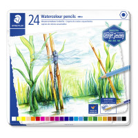 Staedtler Design Journey Watercolour Pencils - Assorted Colours (Tin of 24)